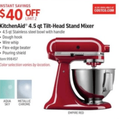 Costco Kitchen Aid Lowes Sink Base Cabinet Kitchenaid Mixer Black Friday 2019 Sales Deals Blackerfriday Com Artisan