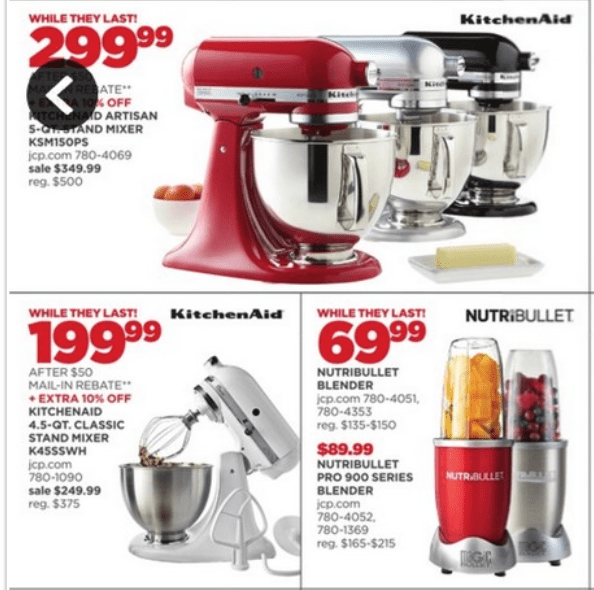 kitchenaid artisan mixer black friday jc penney - Kitchenaid Mixer Best Price