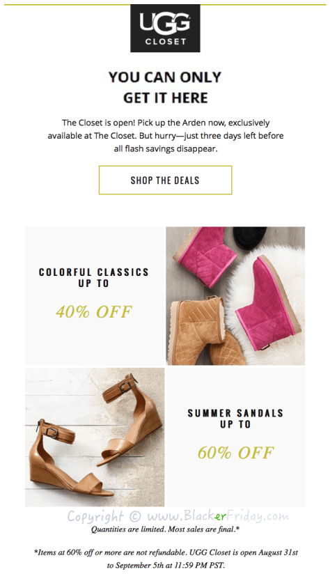 Ugg Labor Day 2016 Sale - Page 1