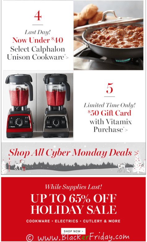 Williams Sonoma Cyber Monday Sale Ad Scan - Page 3