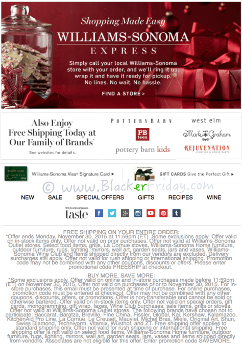 Williams Sonoma Cyber Monday Sale Ad Scan - Page 4