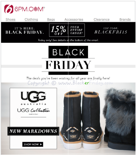 6PM Black Friday Sale Ad Flyer - Page 1