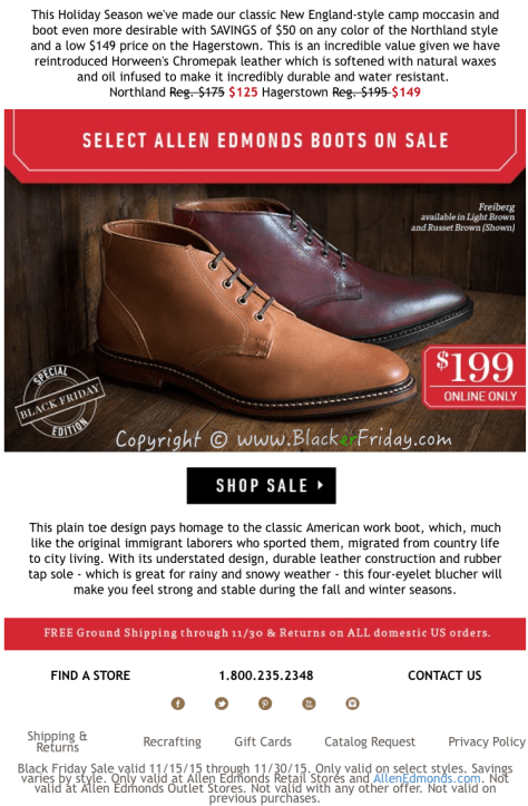 Allen Edmonds Black Friday Sale Flyer - Page 4