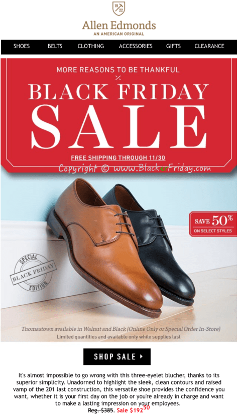 Allen Edmonds Black Friday Sale Flyer - Page 5