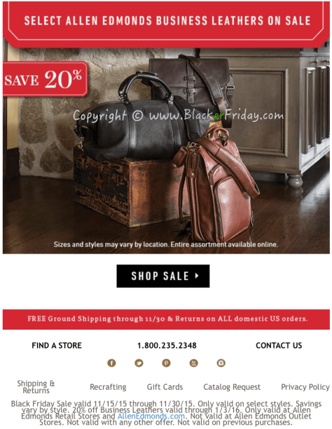 Allen Edmonds Black Friday Sale Flyer - Page 6