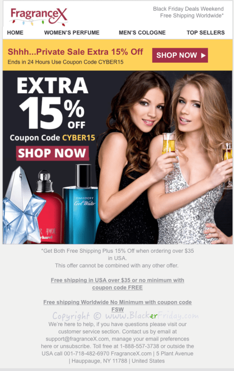 FragranceX Black Friday Sale Ad Flyer - Page 1