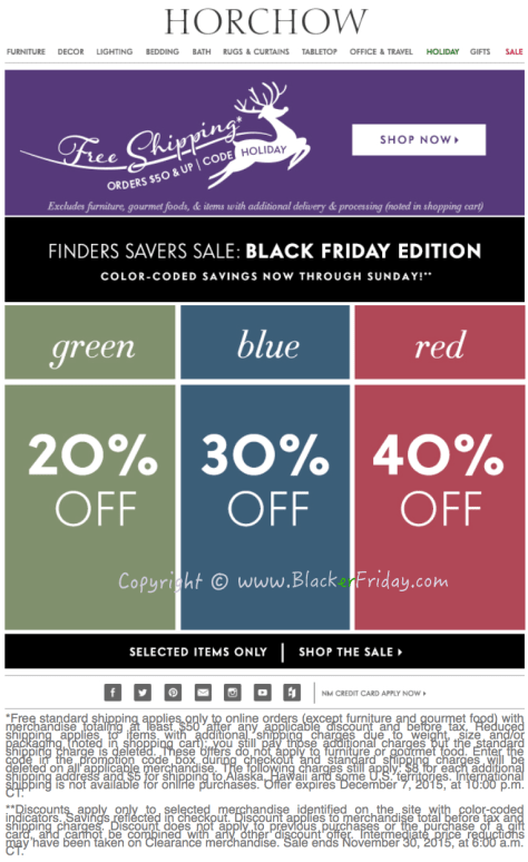 Horchow Black Friday Sale Ad Flyer - Page 1
