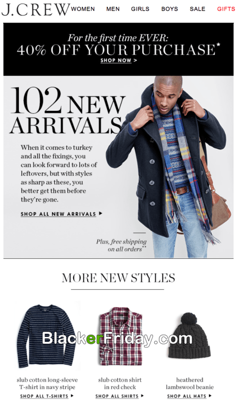 d3c6b8b49 J.Crew's Black Friday 2019 Ad & Sale Details - BlackerFriday.com