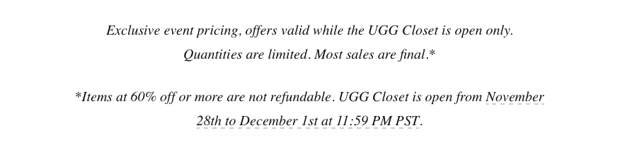 ugg cyber monday 60 off