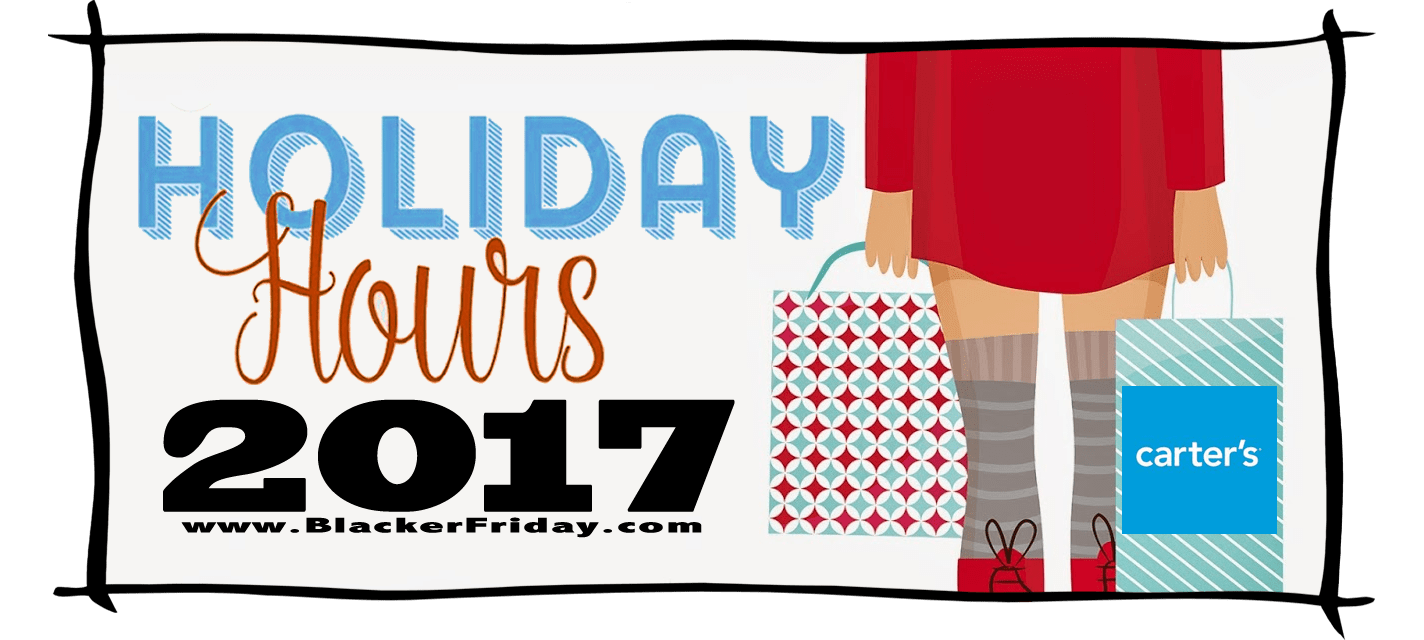 Carters Black Friday Store Hours 2017