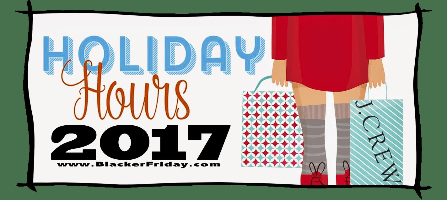 JCrew Black Friday Store Hours 2017