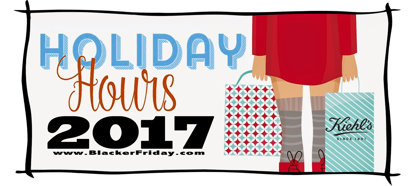 Kiehls Black Friday Store Hours 2017