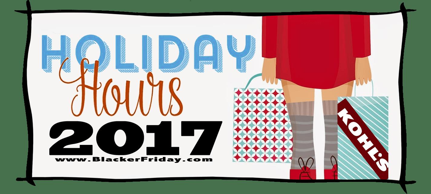 Kohls Black Friday Store Hours 2017