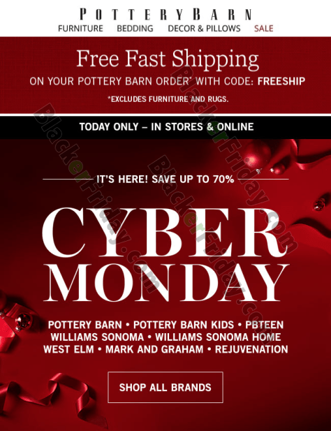 Pottery Barn Cyber Monday 2019 Sale Blackerfriday Com