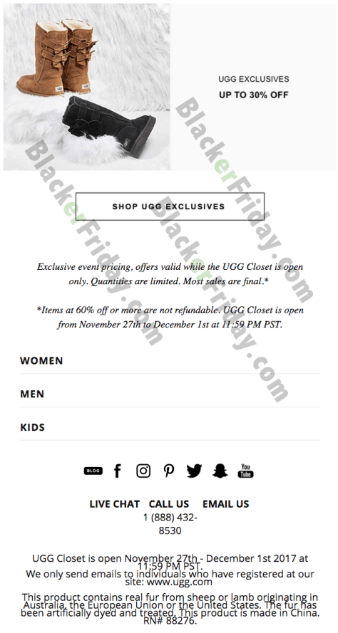 8e3efc39f1c UGG's Cyber Monday Sale for 2019 - BlackerFriday.com