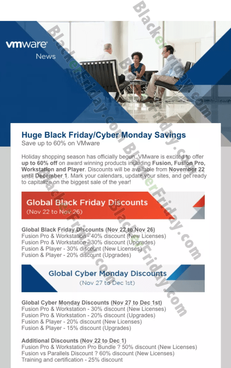 VMware's Cyber Monday Sale for 2019 - BlackerFriday com