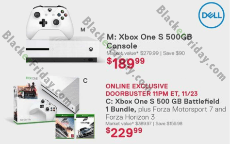 19067088f23 Best Buy  Best Buy has two Xbox options highlighted in their Black Friday  ad for you to choose from this year. The first is the 500GB console with one  ...