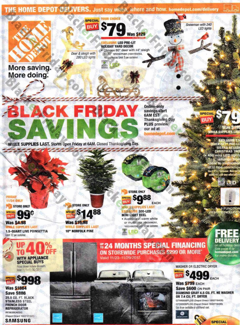 home depot black friday 2019 ad sale deals. Black Bedroom Furniture Sets. Home Design Ideas