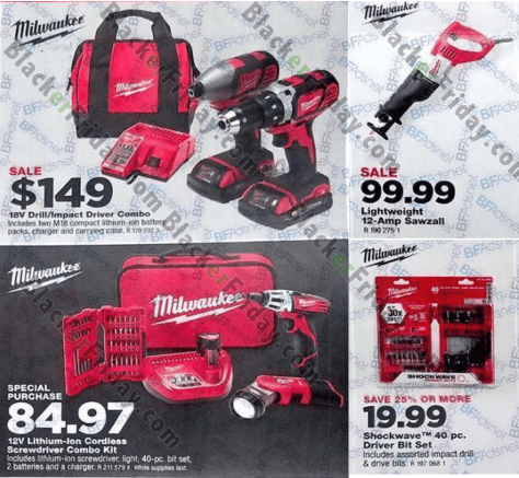 Milwaukee Tools Black Friday 2019 Sale & Deals