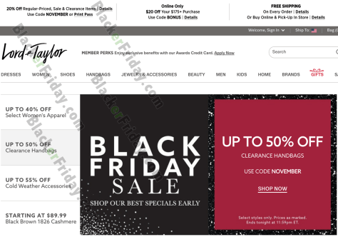 Lord Taylor Black Friday 2019 Sale Deals Blackerfriday