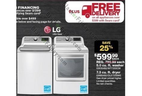 lg washing machine dryer black friday 2018 sale deals blacker friday. Black Bedroom Furniture Sets. Home Design Ideas