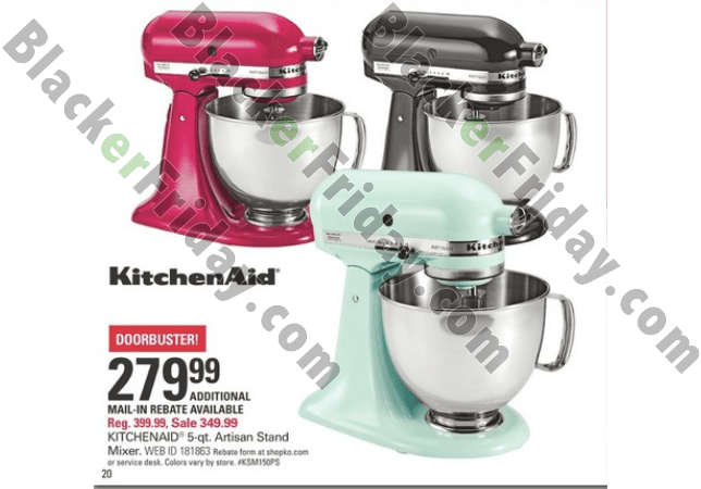 Kitchenaid Mixer Black Friday Deals 2017 Lamoureph Blog