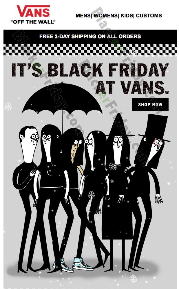 black vans black friday