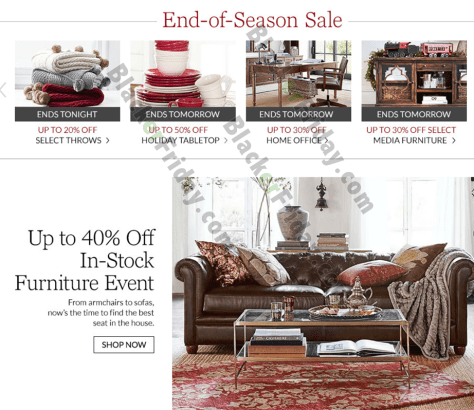 Pottery Barn After Christmas Sale 2018 Black Friday 2018