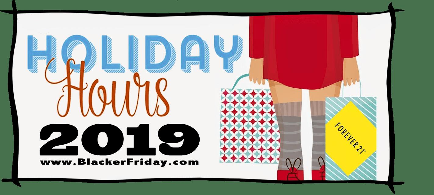 Forever 21 Black Friday Store Hours 2019