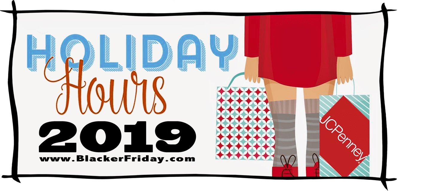 JC Penney Black Friday Store Hours 2019