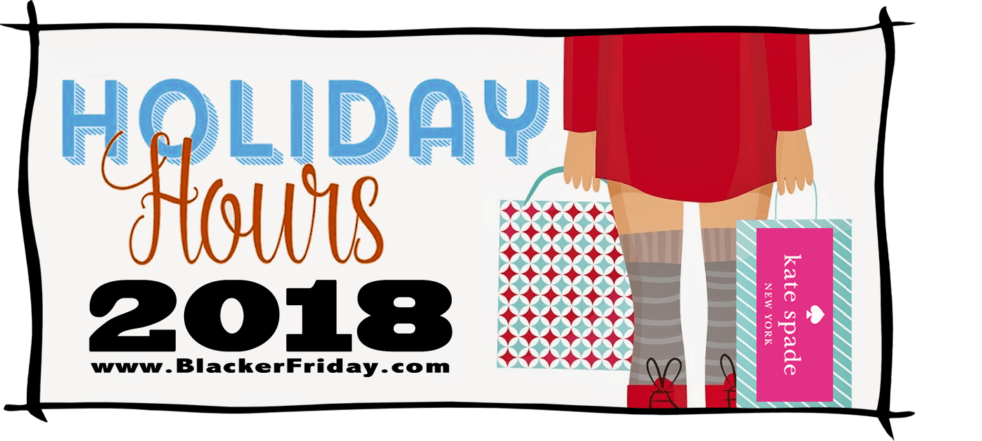 Kate Spade Black Friday Store Hours 2018