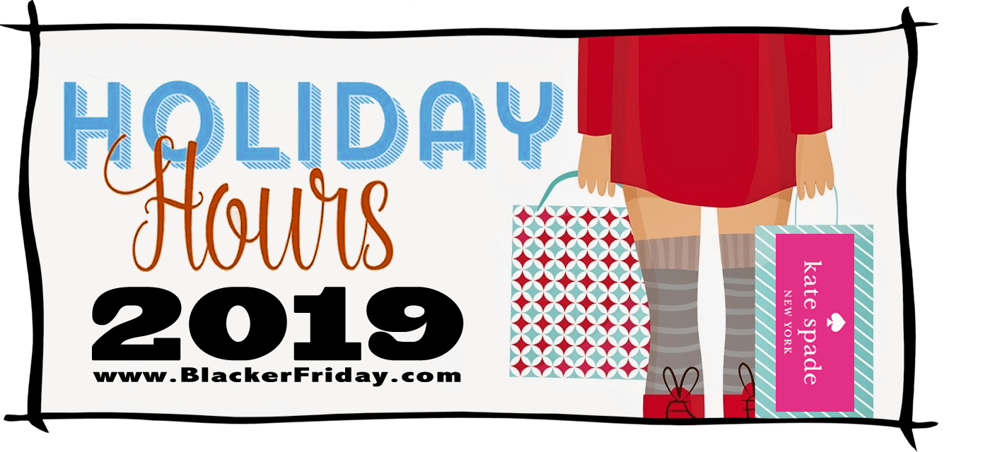 Kate Spade Black Friday Store Hours 2019