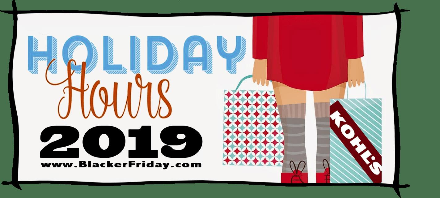 Kohls Black Friday Store Hours 2019