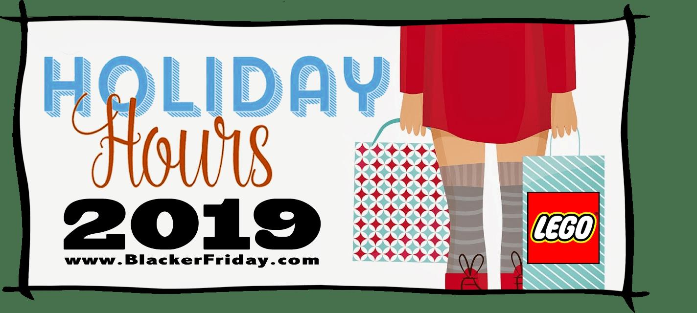 Lego Black Friday Store Hours 2019