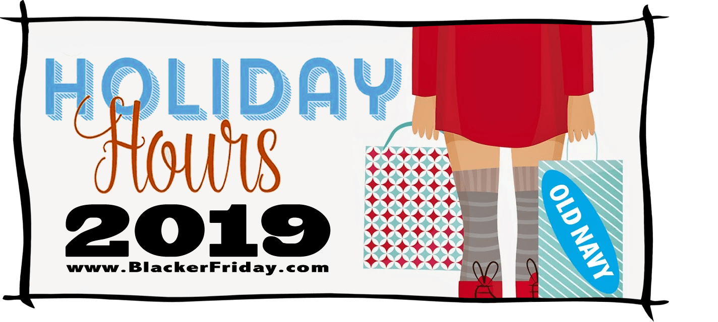 Old Navy Black Friday Store Hours 2019