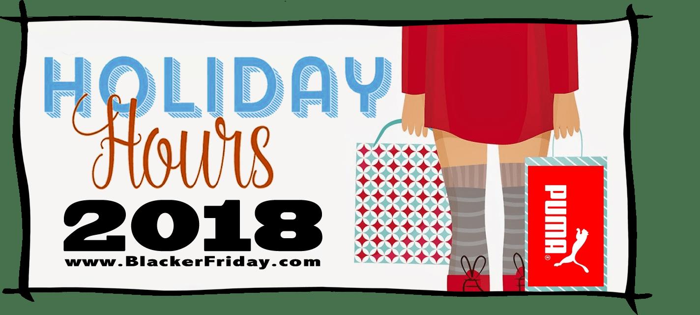 Puma Black Friday Store Hours 2018
