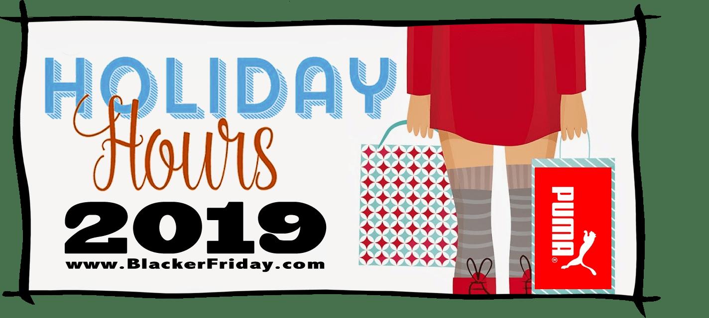 Puma Black Friday Store Hours 2019