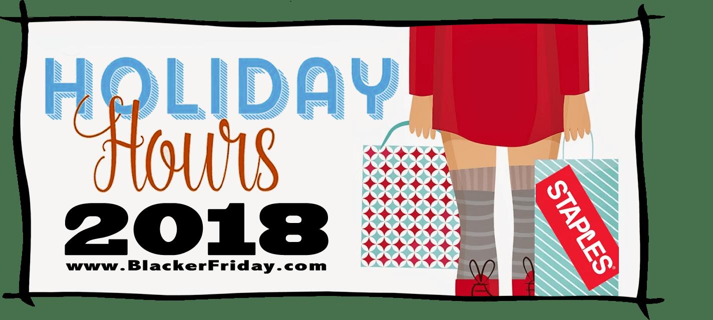 Staples Black Friday Store Hours 2018