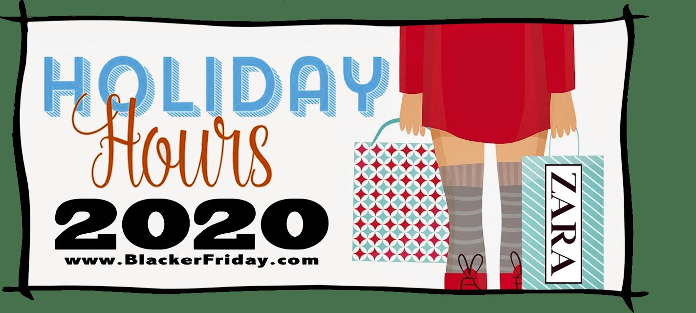 Zara Black Friday Store Hours 2020