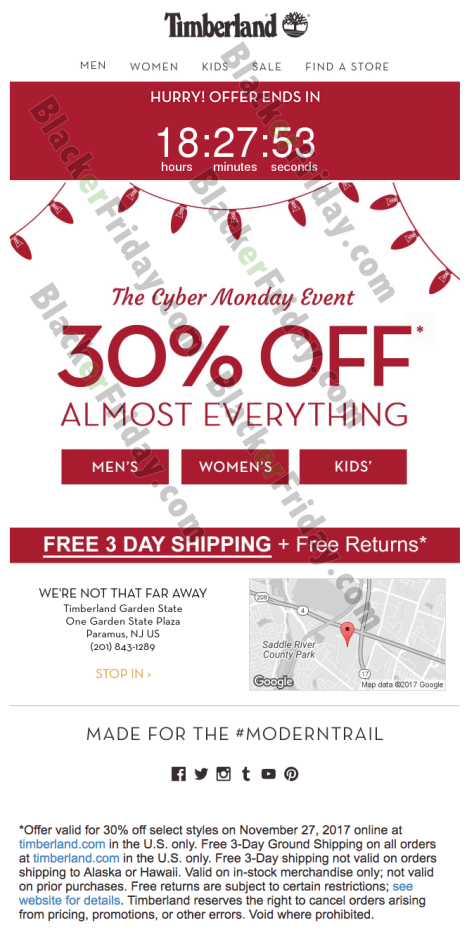 Timberland Black Friday Deal 30% off Everything 2018