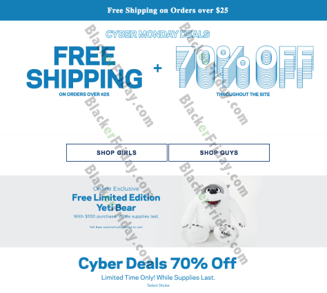Yeti Cyber Monday Sale >> Aeropostale S Cyber Monday Sale For 2019 Blackerfriday Com