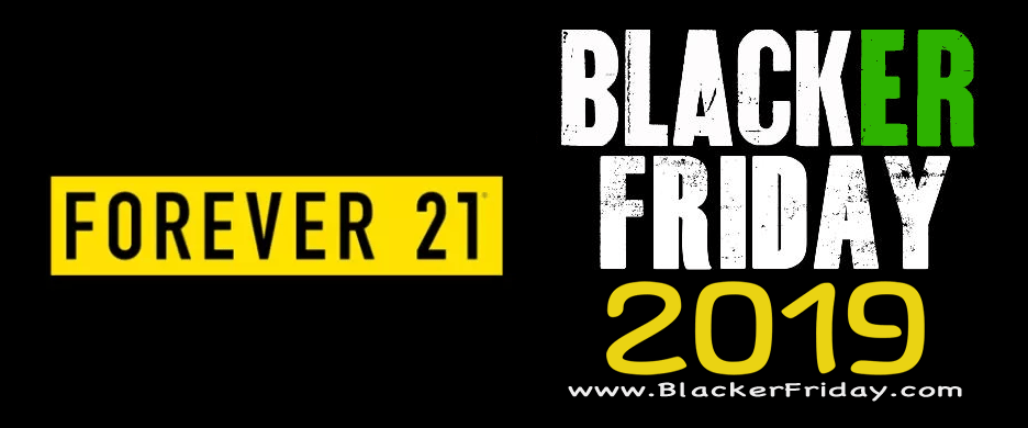 Forever 21 2018 Black Friday & Cyber Monday Sale
