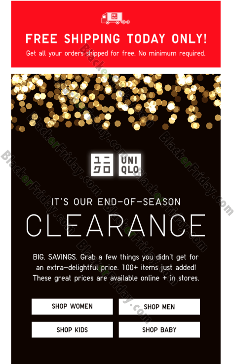 Online After Christmas Sales 2020 UNIQLO After Christmas Sale 2020   What to Expect   Blacker Friday