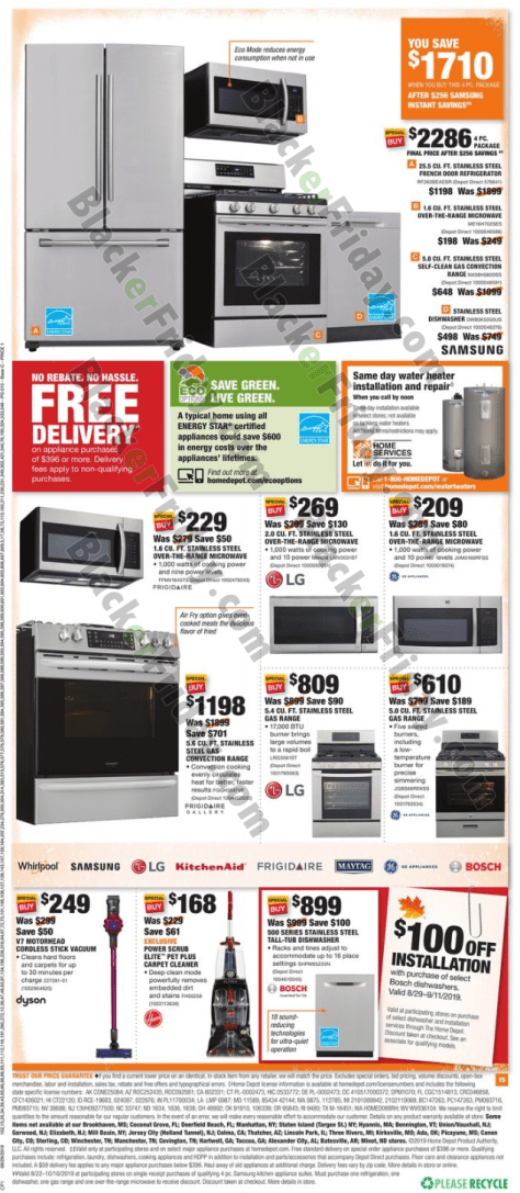 Home Depot Labor Day Sale 2019 - BlackerFriday com