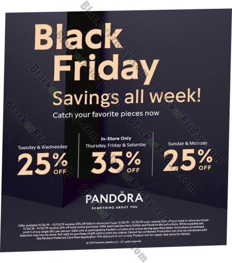 Pandora Black Friday 2019 Sale Holiday Charms Blacker Friday