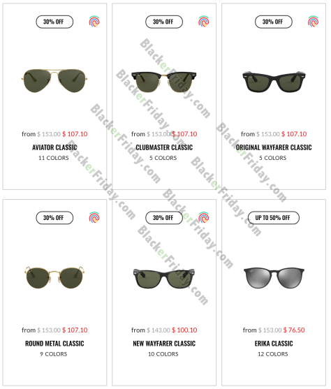 ray ban aviator sunglasses black friday