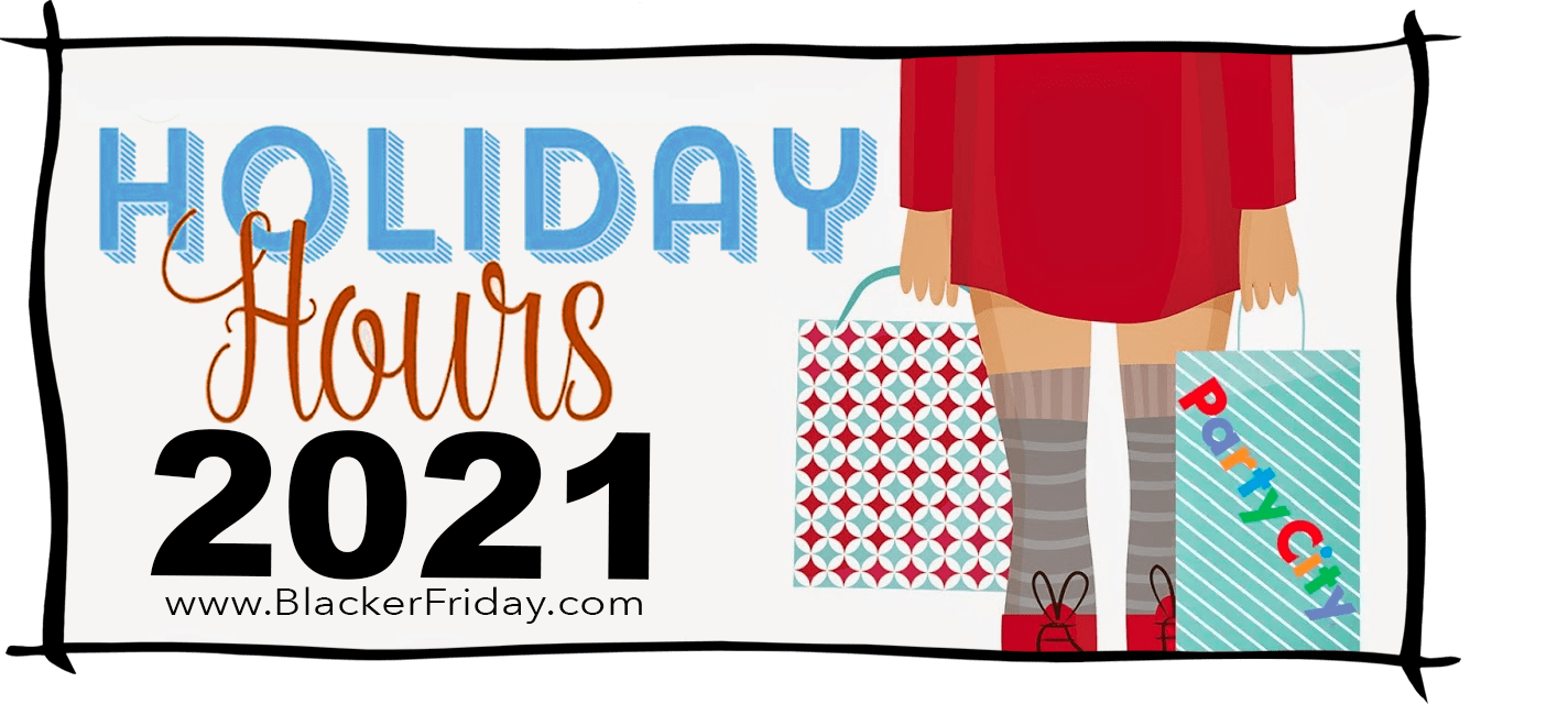 Party City Black Friday Store Hours 2021