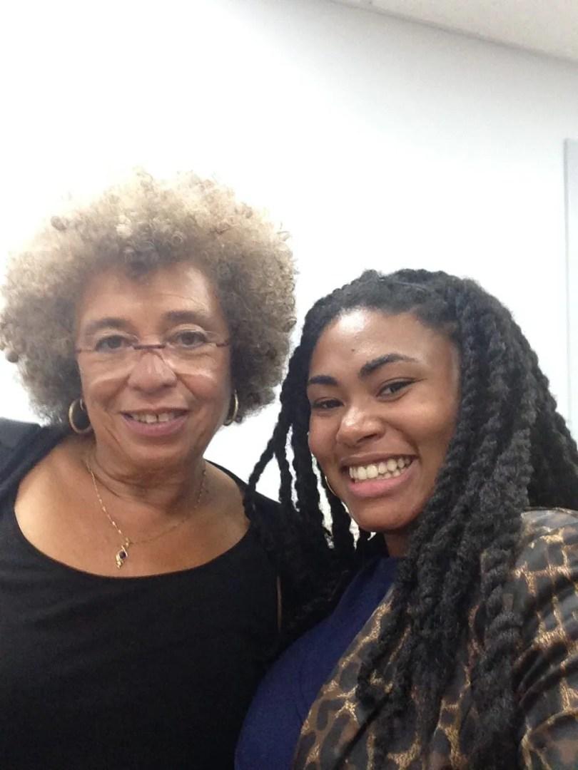 Melissa Brown with Angela Davis