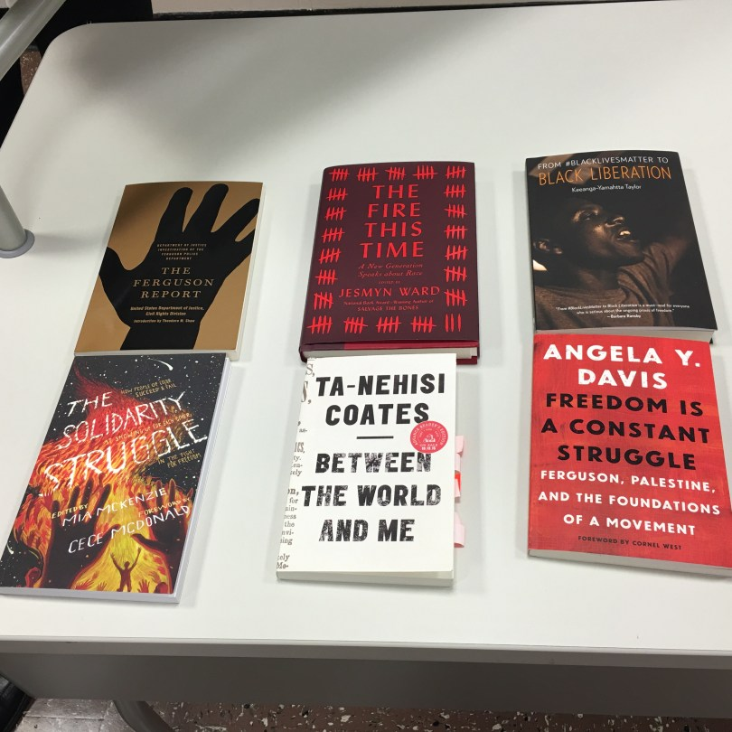 Bibliography image of books on table