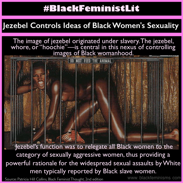 The Jezebel stereotype is an image meant to control Black women's sexuality